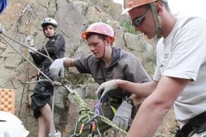 18 Снова проверка узлов и креплений и спуск со скалы