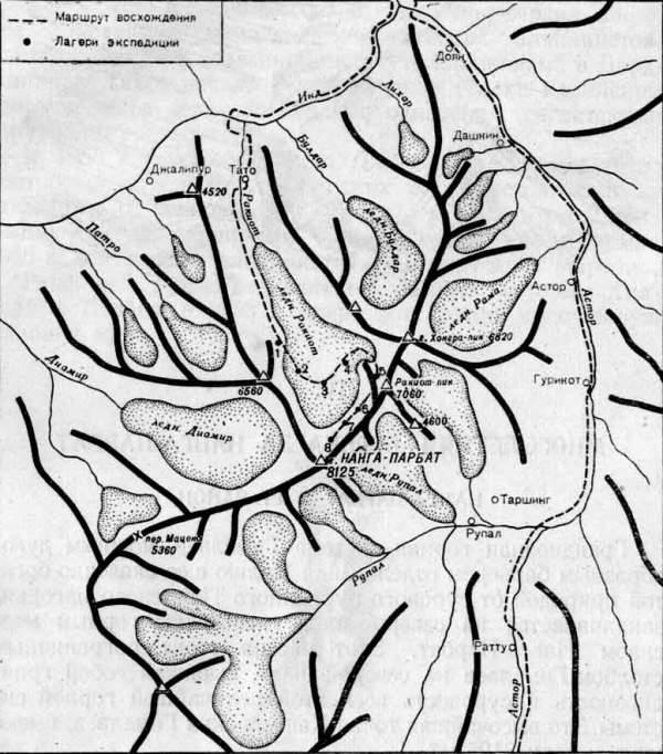 Орография и маршрут первовосходителей