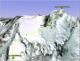 Верхняя часть маршрута от лагеря 3 до вершины