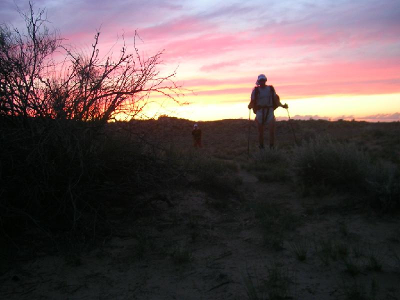 Бег на закате